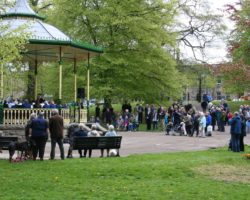 Summer rehearsals in the Bandstand