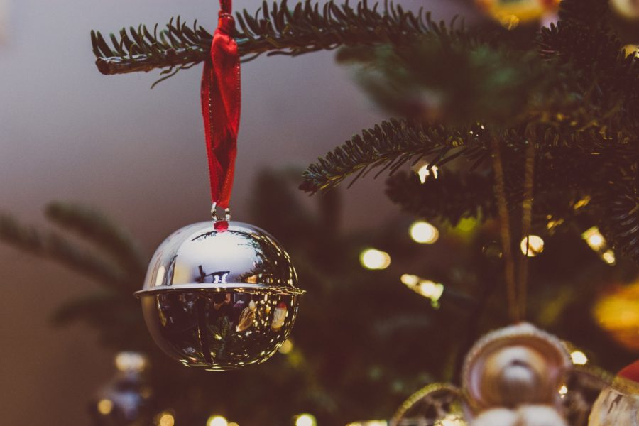 Bauble hanging on tree